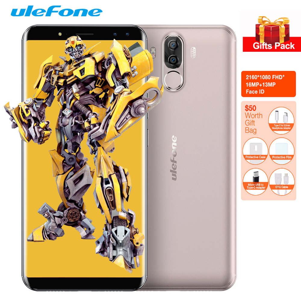 Ulefone Power 3S Face ID 6.0'' FHD+ 18:9 16MP Android 7.1 Four Cam 4G Mobile Phone 6350mAh MTK6763 Octa Core 4GB+64GB Smartphone