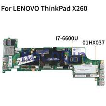 KoCoQin Laptop Cho LENOVO ThinkPad X260 I7-6600U Mainboard 01HX037 01EN203 01YT047 00UP200 NM-A531(China)