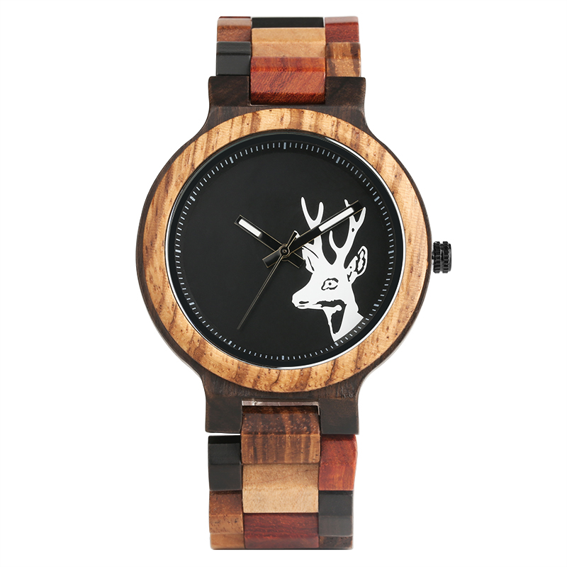 Creative Full Bamboo Wooden Men Wrist Watch Casual Warm Color Wood Watch Band Fold Clasp Simple Quartz Timber Watches Best Gift luxury top brand full wooden watches handmade nature wood hollow wrist watch women men fold clasp creative casual bamboo gifts
