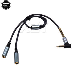 3.5mm Earphone Adapter Double Jack Plug Stereo Headphone Splitter for PCMP3 Smartphone Player Audio Extension Cables