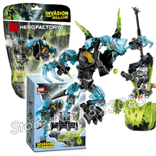 83pcs Bela Hero Factroy Crystal Beast vs Bulk Model Building Bricks Action robots Toys Compatible With