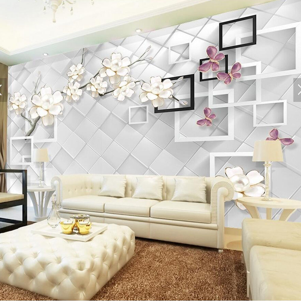 3d Flower Wallpaper Wall Mural Living Room Bedroom Wall Decor  ~ Papeles Decorativos Para Paredes