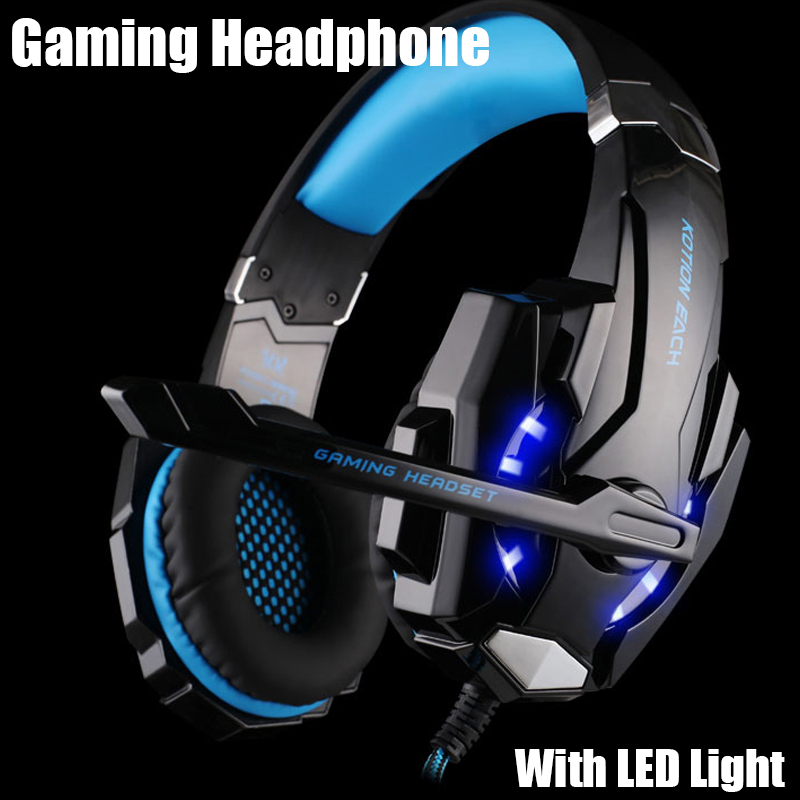 ФОТО 2017 7.1 Surround Sound Version Gaming Headphone Computer Headset  Headband with Microphone LED Light for LOL Laptop Computer