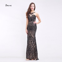 Finove Appliques Evening Dresses See Through Nude Tulle Sweet Heart Neck 2017 New Arrival Floor Length Long Dresses for Women