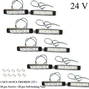 Image 1 - 10 PCS AOHEWEI 12 V LEVOU front side marcador luz branca indicador de posição da lâmpada com refletor para reboque do caminhão camião RV