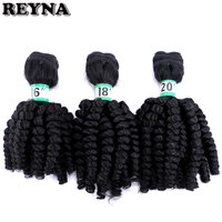 "Curly Hair Bundles REYNA Synthetic High Temperature Fiber Hair Weave 3 Pieces 210 Gram 16"" 18"" 20"" Inches"