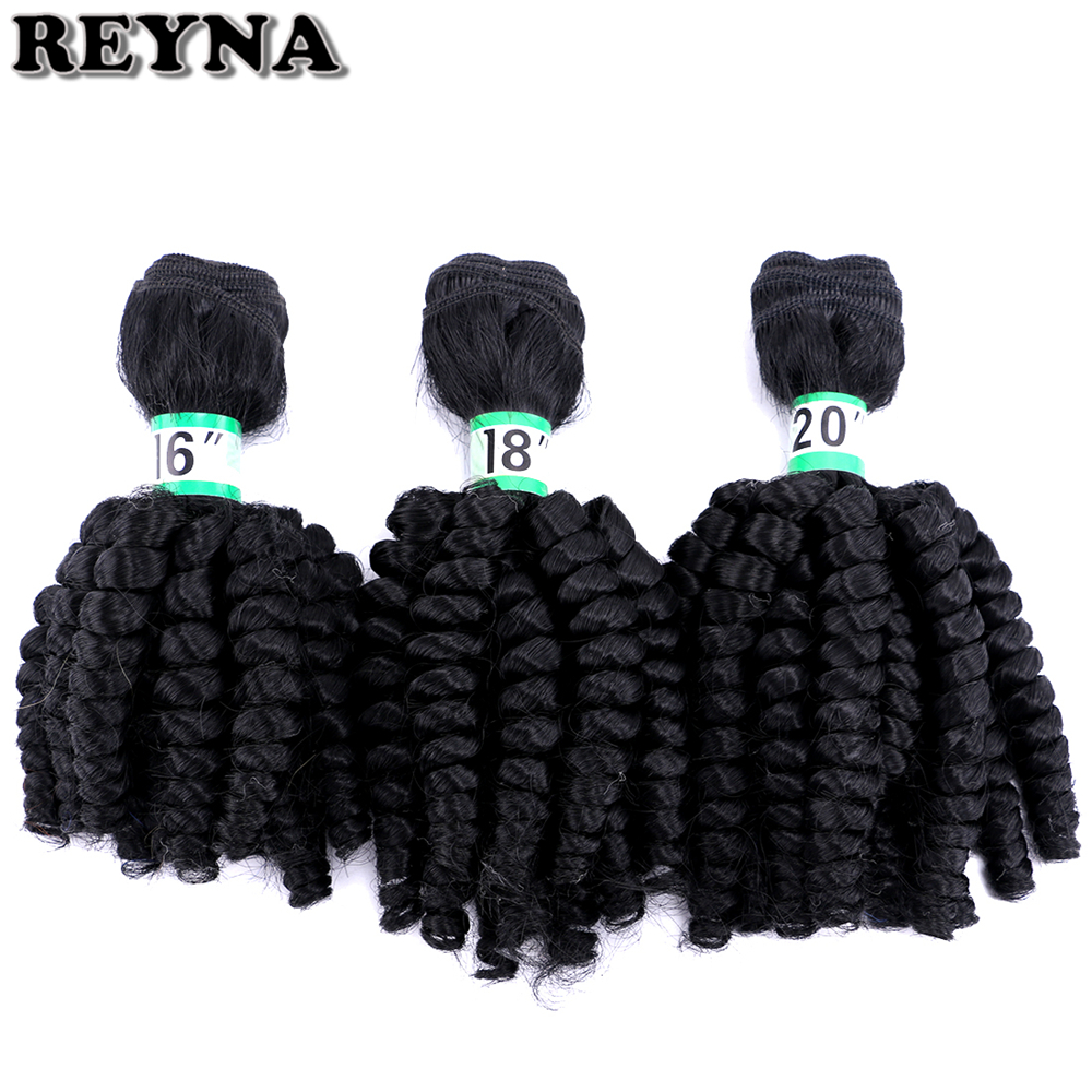 """Curly Hair Bundles REYNA Synthetic High Temperature Fiber Hair Weave 3 Pieces 210 Gram 16"""" 18"""" 20"""" Inches"""