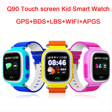 Child Q90 Touch Screen WIFI Smart baby Watch Location Finder Device GPS Tracker watch for Kids Anti Lost Monitor smartwatch