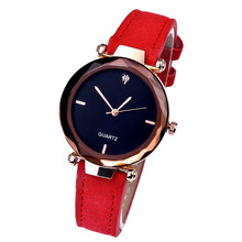 High Quality Fashion Womens Ladies Simple Watches Leather Quartz Wrist Watch clock Girl Birthday Gift quartz watch clock woman high quality cute cat printed women s watches faux leather analog ladies girl gift casual sport watches