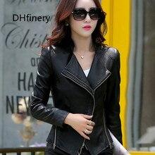 2016 spring and autumn clothing leather female short design womens slim jacket coat