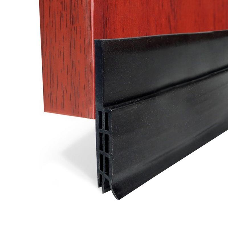 US $7 44 34% OFF|1PC Door Sweep Sticker Silicone Bottom Seal Strip Weather  Stripping Draft Stopper Blocker Soundproof Prevent Bugs 5x0 5x100cm-in Door