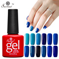 Saviland 8ml Semi Permanentes Blue Series Colors UV Nail Gel Lacquer Soak Off Nail Gel Polish 12colors Cosmetic Set
