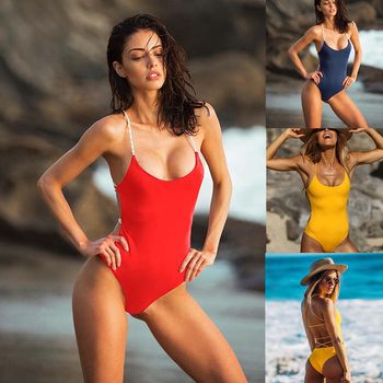 2cc677b09a06b Swimwear Women One Piece Swimsuit Sheer Bikini Sexy Bandage Swimsuits Push  up Bathing Suit Monokini Swimsuit Woman One Piece