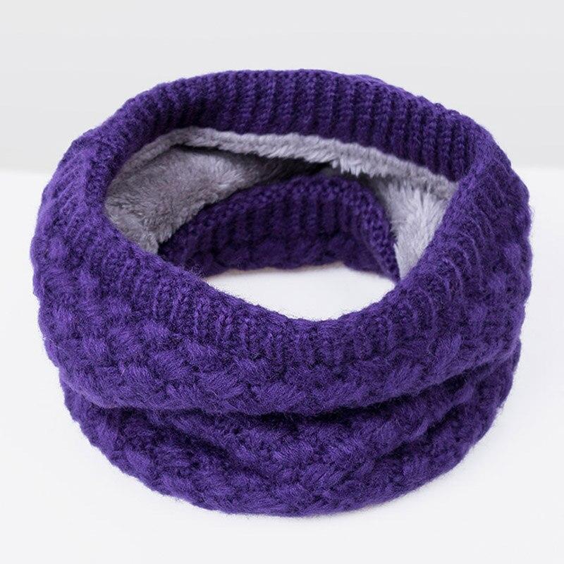 Зимний теплый шарф вельветовый хлопковый шарф на шею для мальчиков и девочек удобный для мужчин и женщин - Цвет: Purple