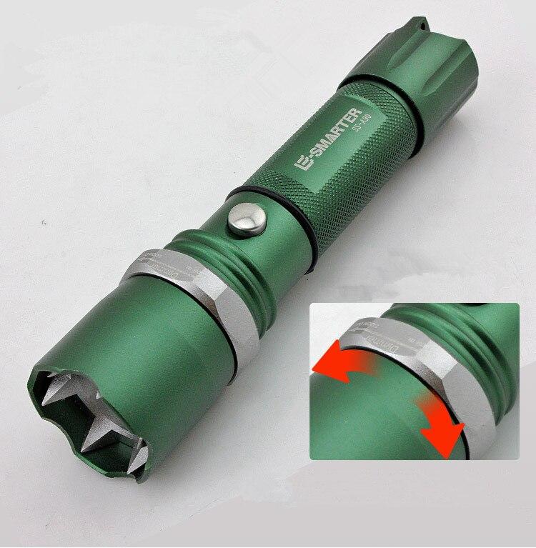 Fghgf светодиодный яркий светодиодный фонарик 18650 тактический фонарь Для женщин самообороны поставки оружие самообороны оборудования