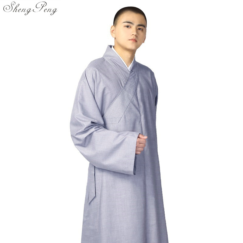 Buddhist Monk Robes Chinese Shaolin Monk Robes Men Traditional Buddhist Monk Clothing Uniform Shaolin Monk Clothing V792