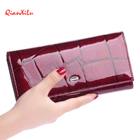 Fashion High Quality Women Wallet Genuine Leather Candy Purse Female Long Design 2016