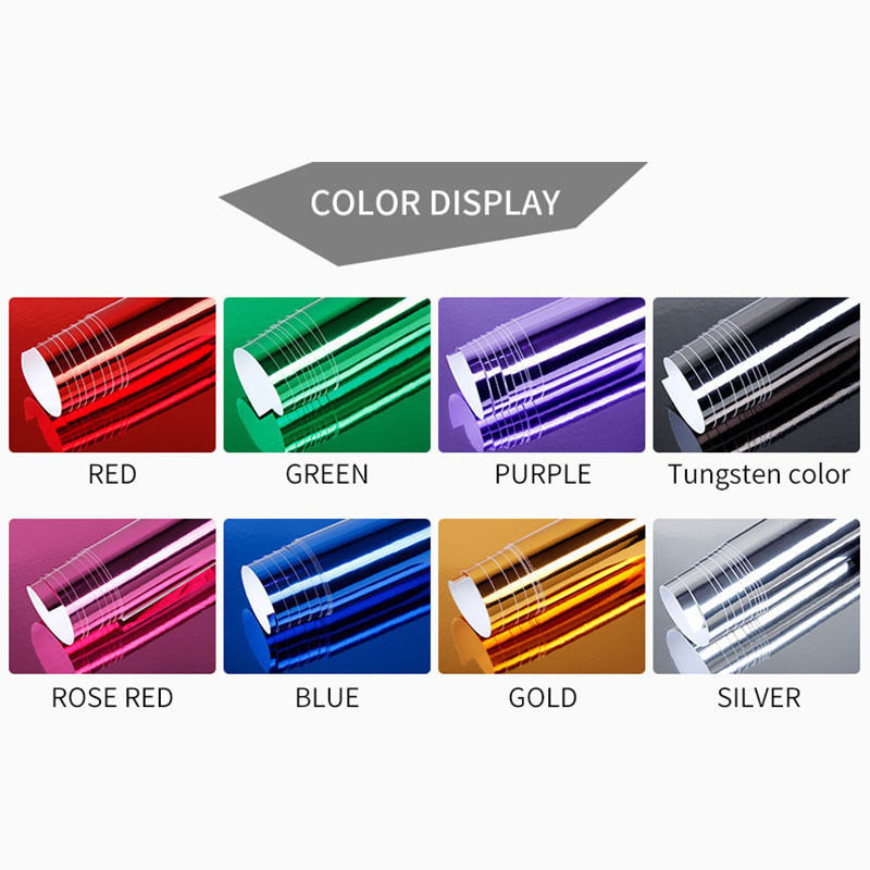 152 52cm Bubble Free Chrome Mirror Vinyl Wrap 8 Colors Car Electroplating Mirror Color Changing Vinyl Film Mayitr in Car Stickers from Automobiles Motorcycles