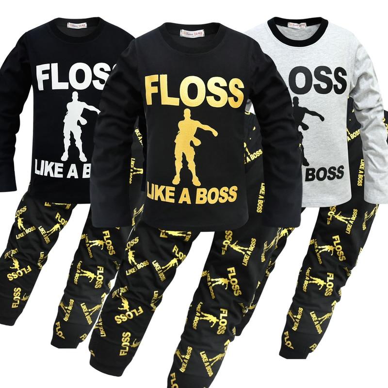 9cf4305fa4 2019 Kids Clothes Boys Pijamas Battle Victory Royale Pyjamas Big Boys  Christmas Pajamas Clothing Girls Homewear