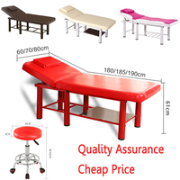 Stable Professional Spa Massage Tables Foldable Salon Furniture PU Bed Thick Beauty Massage Table with stools adjustable