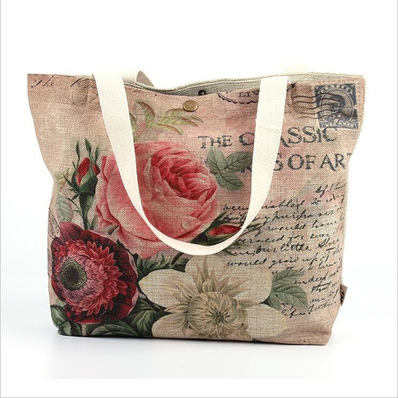 Fashion Beauty Cars Printed Canvas Bag Women Handbags Shoulder Bags Ladies Vintage Casual Tote Shopper Beach Bag bolso aosbos fashion portable insulated canvas lunch bag thermal food picnic lunch bags for women kids men cooler lunch box bag tote