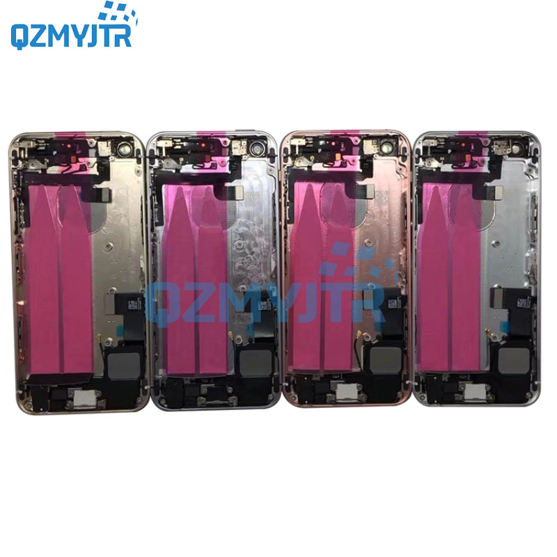 New Full Housing For Iphone SE/5SE Battery Cover Back Housing Rear Door Case Middle Chassis Frame With Flex Cable Assembly