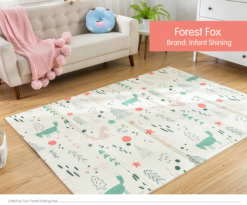 HTB1AAvhXgFY.1VjSZFnq6AFHXXac Infant Shining Baby Play Mat Xpe Puzzle Children's Mat Thickened Tapete Infantil Baby Room Crawling Pad Folding Mat Baby Carpet