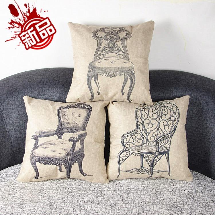 Throw Pillows Outdoor : HD print dining chair cushion 45x45cm car seat cushions Home decorative pillow pillowcase Retro ...