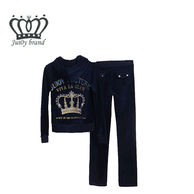 Spring / Autumn / 2018 Womens Brand Tracksuit Velvet Cloth Womens Suit Velor Tracksuit Sweatshirts & Pants size S-XXL
