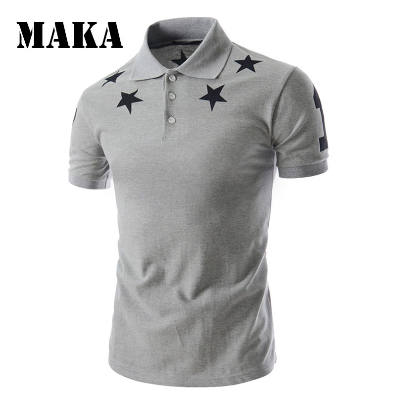 Men   Polo   Shirt Brand Men's Solid Color   Polo   Shirts Camisa Masculina Men's Casual Cotton Short Sleeve   Polos   Star Pattern   Polo   T32