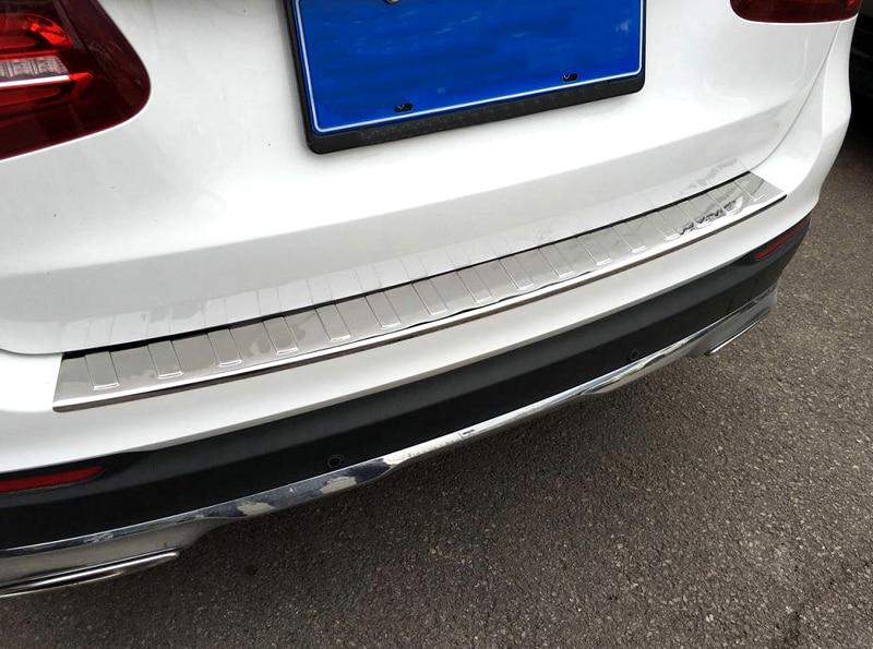 2015 2016 2017 pour Mercedes Benz GLC classe X253 acier pare-chocs arrière protecteur plaque couvercle garde extérieur surface lumineuse