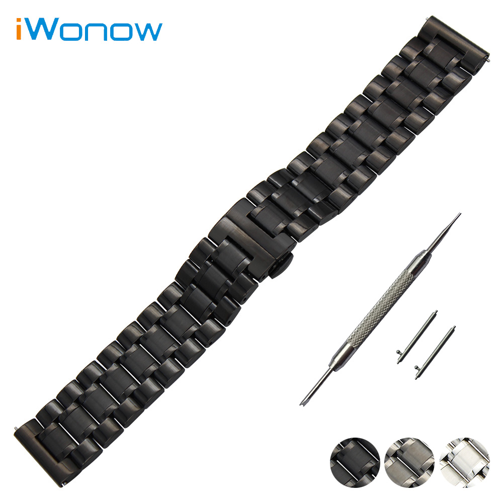 Stainless Steel Watch Band 20mm 22mm for Baume & Mercier Quick Release Strap Butterfly Buckle Wrist Belt Bracelet Black Silver 18mm 20mm 22mm quick release watch band butterfly buckle strap for tissot t035 prc 200 t055 t097 genuine leather wrist bracelet