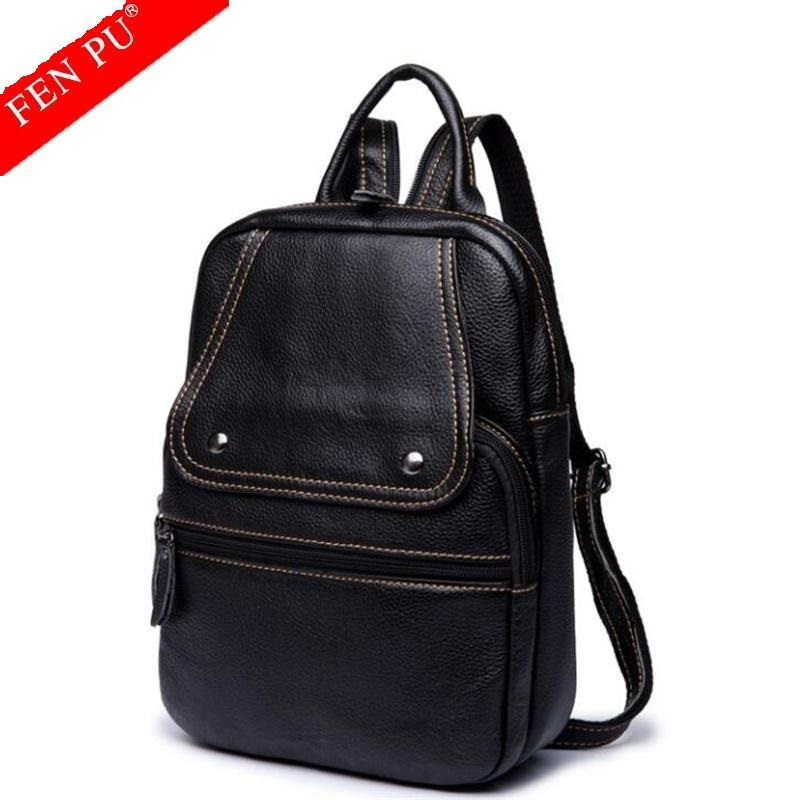 Sales Promotion!Casual Women Genuine Leather Backpack Women Shoulder Bags Luxury Women School Bags Leather Female Travel Bags manufacturer of spot sales promotion
