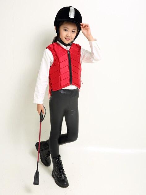 De Équitation L'équitation Black Protecteur Armure Pour Chevalier Garçons Costume Corps Veste Protectrice Enfants Et red Filles D'équipement 6qtgw118