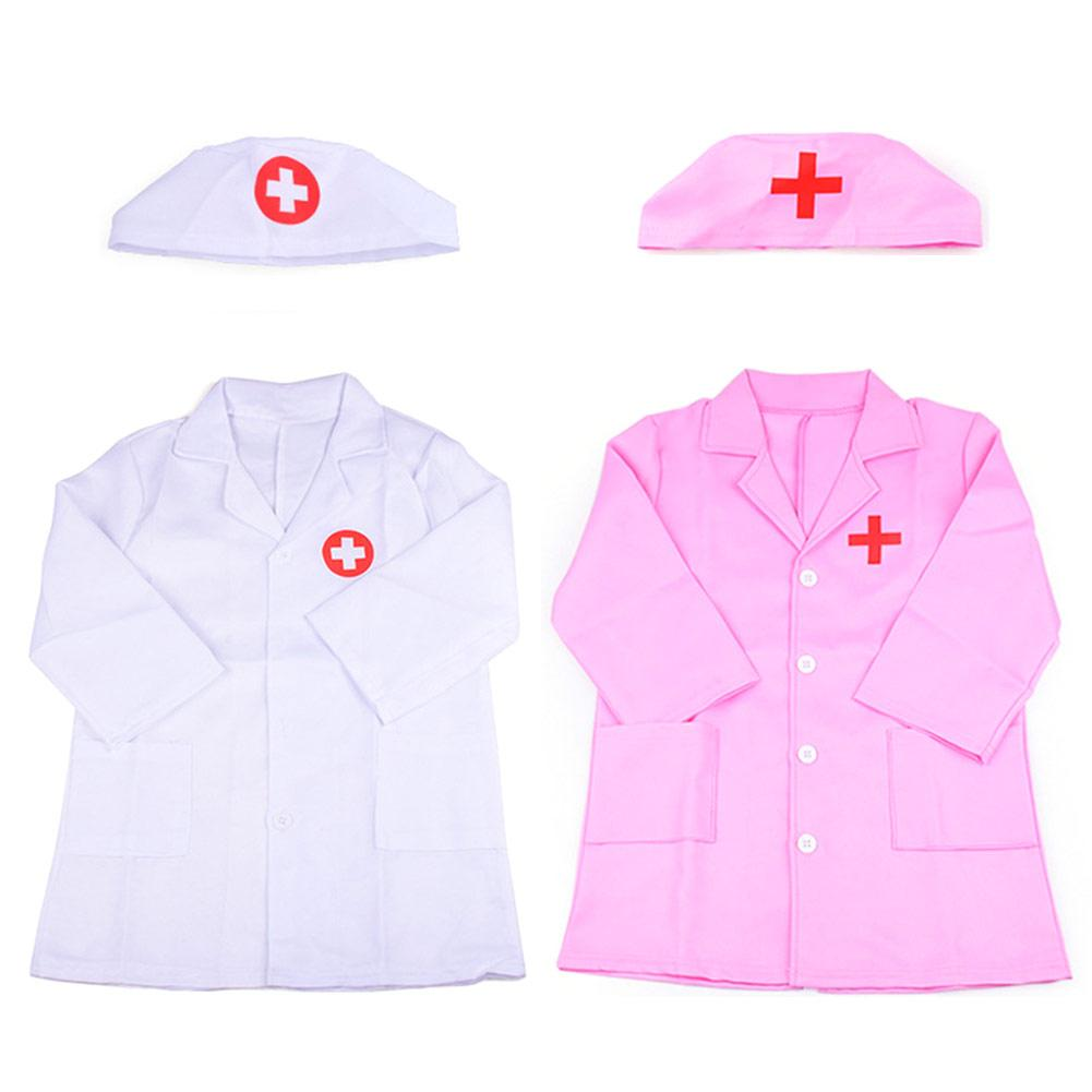 Children Doctor Role Play Costume Dress-Up Set Doctor Lab Coat Medical Kit Cosplay For Toddler Scrub Additional Medical Tools