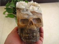 1.5kg natural beauty clear cluster crystal skull specimens
