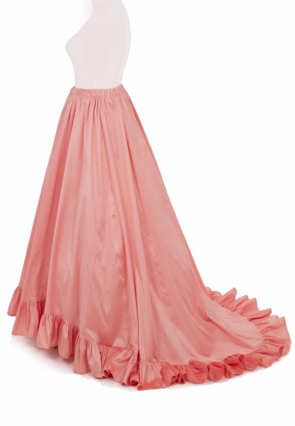 Викторианская суета юбка викторианская французская плиссированная сборная суета розовая юбка