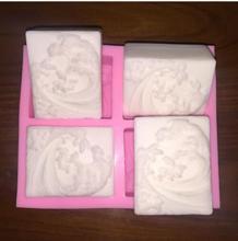 DIY ช็อกโกแลตมงกุฎ 3 d ไข่มุก handmade สบู่ซิลิโคน pearl crown เทียนตกแต่งเค้ก mold4Hole คลื่นฤดูหนาว Handmade S