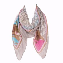 2019 Fashion Thin Lightweight Dot Printed Polyester Square Scarf For Women 100*100 cm 2019 women 100