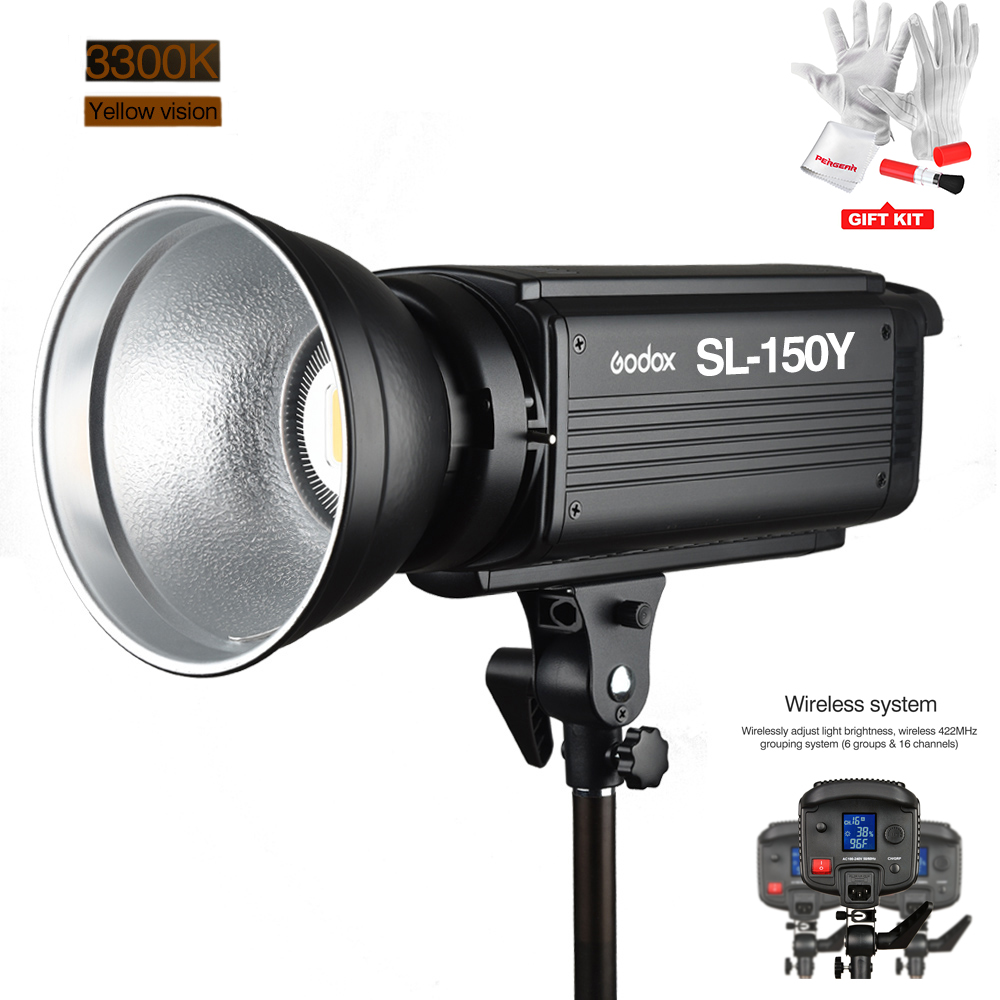 Godox SL-150Y 150W 3300K CRI 93+ 16 Channels LED Studio Continous Video Light with Bowens Mount for Photograph + Remote Control