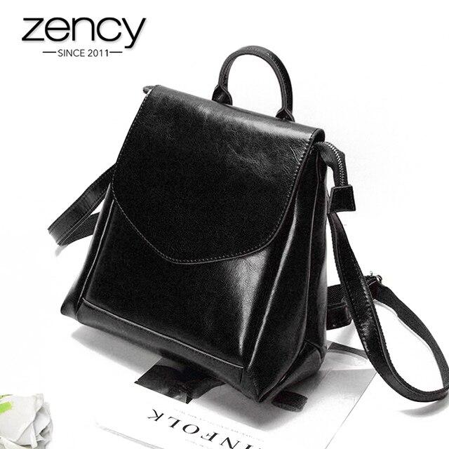 2017 New Vintage Designer Genuine Leather Backpack Women Female Mochila Famouse Brand Girl Schoolbag Ladies Laptop Shoulder Bag