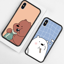 Hot Selling Cartoon Cute Panda Pattern Phone Case For iPhone X XS MAX XR High Quality Dog Animal Cases Back Cover 6 7