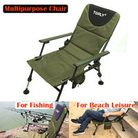 1 Piece Multipurpose Folding Fishing Chair Beach Chair Lounger Armchair with Backrest New Arrival