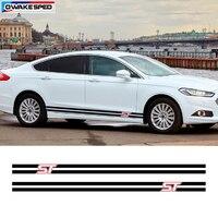 Для Ford Mondeo Vignale ST Sport Stripes виниловая наклейка двери автомобиля сбоку юбка Декор Стикеры Авто средства ухода за кожей интимные аксессуары Racing