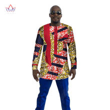 2017 New Dashiki Men Shirt Long Sleeve Mens African Clothing Plus Size 6XL  Africa Style Mens Print Cotton Wax Tops BRW WYN110 10b5d777ff7c