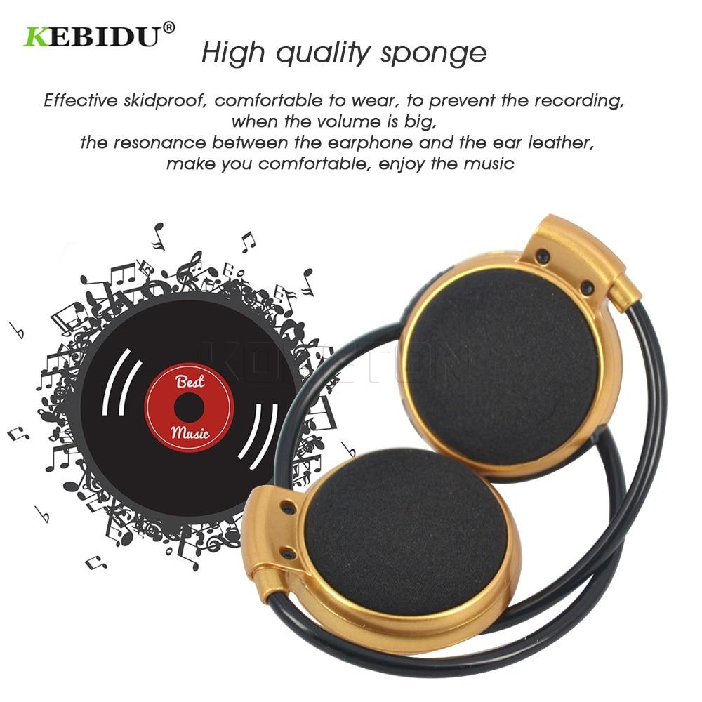 Kebidu 2018 Fashion Sport bluetooth wireless Music Stereo headphones Bluetooth Earphones for smart phone,Computer PC,laptop