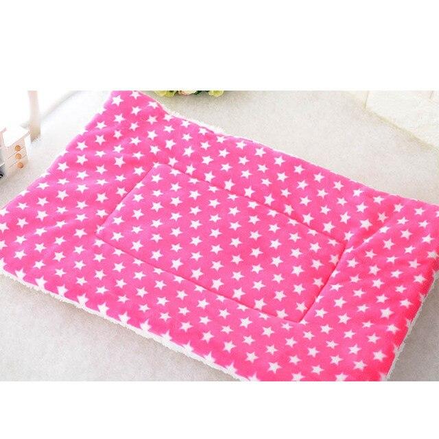 Autumn Winter Pet Dog Sleep Warm Soft Cushion Print Thicken Flannel Cotton Mattress Cats Dogs Mat Puppy Blanket Bed Pad