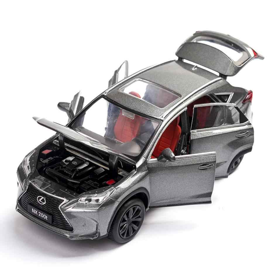 Горячая моделирование 1:32 весы литья под давлением внедорожник автомобили toyota lexus nx200t металл сплав для модели игрушечные лошадки с свет и звук отступить