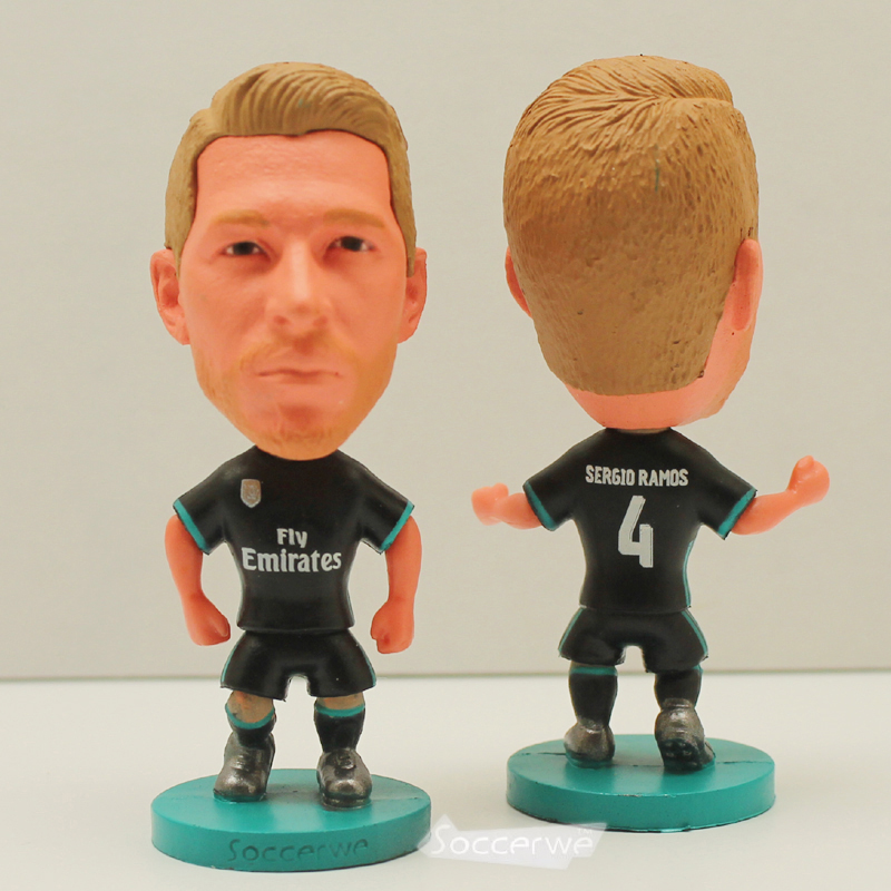 Football star Soccer 4# RAMOS (RM-BLACK-2018) 2.5 Action Dolls Figurine The fans GIFT