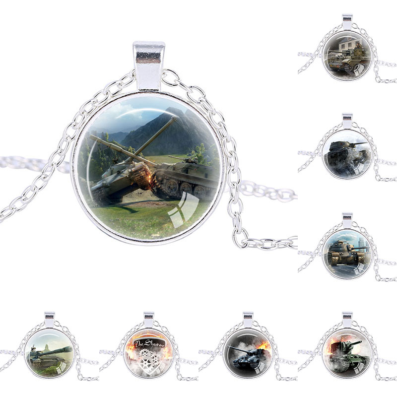 Fashion Online Game World of Tanks Pendent WOT necklace For Mens jewelry WOT trendy necklace personalized gifts necklace